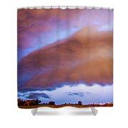 Developing Nebraska Night Shelf Cloud 013 Shower Curtain