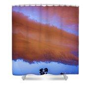 Developing Nebraska Night Shelf Cloud 016 Shower Curtain