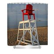 Devereux Beach Lifeguard Chair Marblehead Ma Shower Curtain