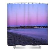 Devereaux Beach Marblehead Ma At Dusk Shower Curtain
