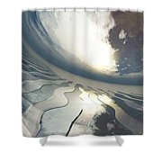 Deviating World Shower Curtain