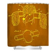 Device For Protecting Animal Ears Patent Drawing 1c Shower Curtain