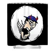 Devil Boy Cartoon Shower Curtain