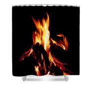 Devil Fire Shower Curtain