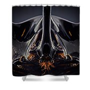 Devil Horn Focus Stack Shower Curtain