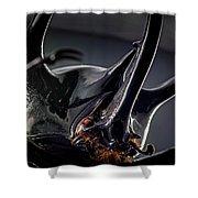 Devil Horns Macro Shower Curtain