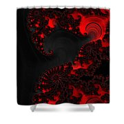 Devil Light   A Fractal Abstract Shower Curtain