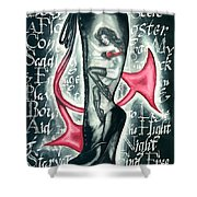 Devilicious Boot Shower Curtain