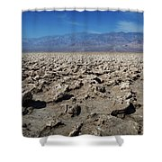 Devil's Golf Course Shower Curtain