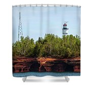 Devils Island Apostle Islands Lighthouse Shower Curtain