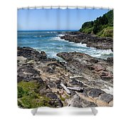 Devils Punch Bowl Shower Curtain