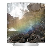 Devil's Rainbow Shower Curtain