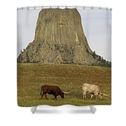 Devils Tower 2 Shower Curtain