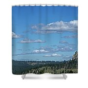 Devils Tower And The Missouri Hills Shower Curtain