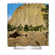Devils Tower Four Shower Curtain