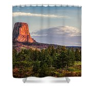 Devil's Tower Morning Shower Curtain