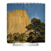 Devils Tower One Shower Curtain