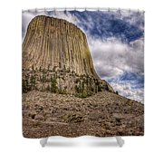 Devil's Tower Summer Afternoon Shower Curtain