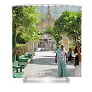 Devotees In Rishikesh India Shower Curtain