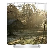 Dewdrop Sunrise Shower Curtain
