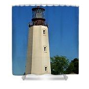Dewey Beach Lighthouse Shower Curtain