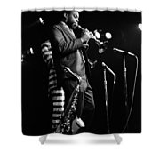 Dewey Redman On Musette Shower Curtain