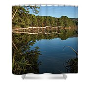 Dewey's Pond Shower Curtain
