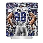 Dez Bryant Cowboys Art 2 Shower Curtain