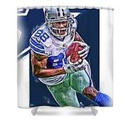 Dez Bryant Dallas Cowboys Oil Art Shower Curtain