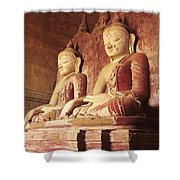 Dhammayangyi Temple Buddhas Shower Curtain