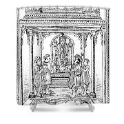 Dhanvantari, God Of Ayurvedic Medicine Shower Curtain