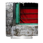 Dharamsala Window Shower Curtain