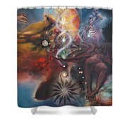 Dharma Of The Sleeper Yo-yo Shower Curtain