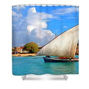 Dhow Off Zanzibar Shower Curtain