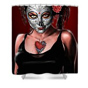 Dia De Los Muertos The Vapors Shower Curtain by Pete Tapang