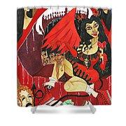Meneater Evil Girls Shower Curtain
