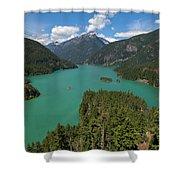 Diablo Lake Shower Curtain