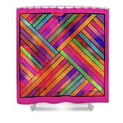 Diagonal Offset Shower Curtain
