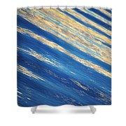 Diagonal Waters Shower Curtain