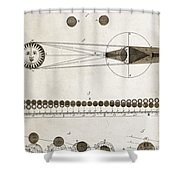 Diagram Of Eclipses, 18th Century Shower Curtain