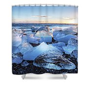 Diamond Beach  Shower Curtain