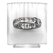 Diamond Eternity Ring Shower Curtain
