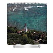 Diamond Head Lighthouse I Shower Curtain