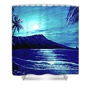 Diamond Head Moon #123 Shower Curtain