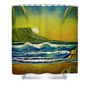 Diamond Head Sunrise #381 Shower Curtain