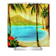 Diamond Head Waikiki Beach #127 Shower Curtain