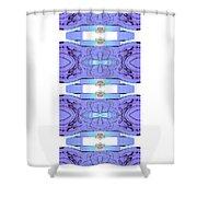 Diamonds Lilac Shower Curtain