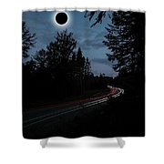 Diamond Ring Solar Eclips Over Route 66 By Adam Asar 3 Shower Curtain