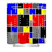 Diamonds And De Stijl Shower Curtain by Tara Hutton