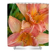 Diamonds And Lilies Shower Curtain